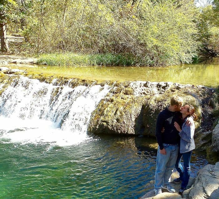 Guada and Cameron's Engagement in Chickasaw National Recreation Area, Oklahoma