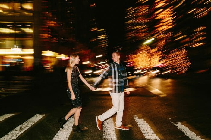 Sarah's Proposal in NYC at the Kimberly Hotel Rooftop