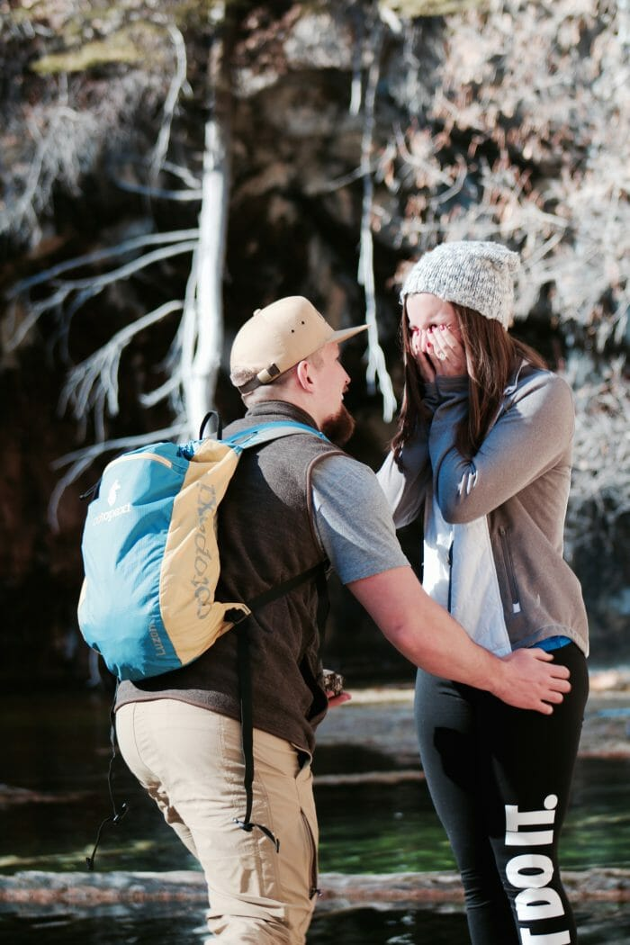 Wedding Proposal Ideas in Hanging lake, Colorado