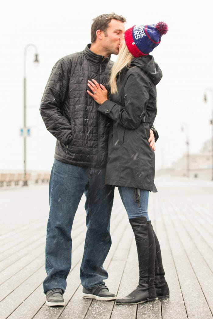 Samantha and Bryan's Engagement in Long Beach, New York