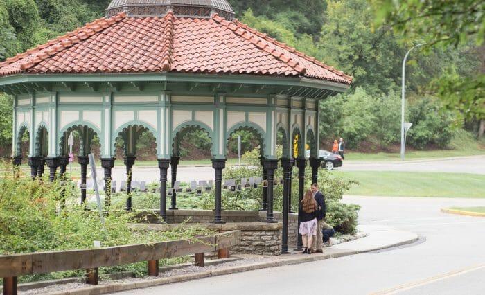 Wedding Proposal Ideas in Eden Park in Cincinnati Ohio