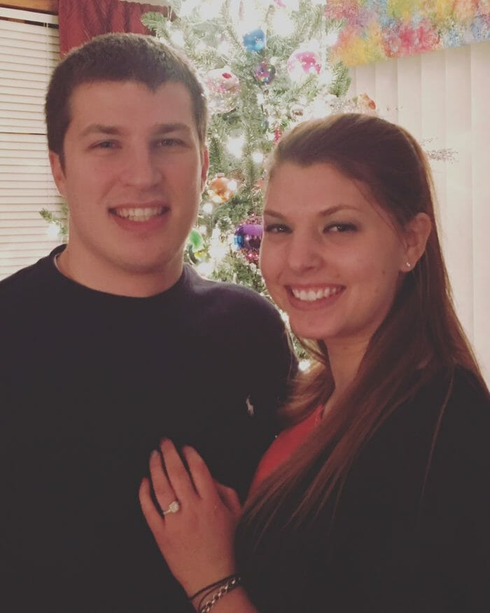 Marriage Proposal Ideas in Our living room by our Christmas tree