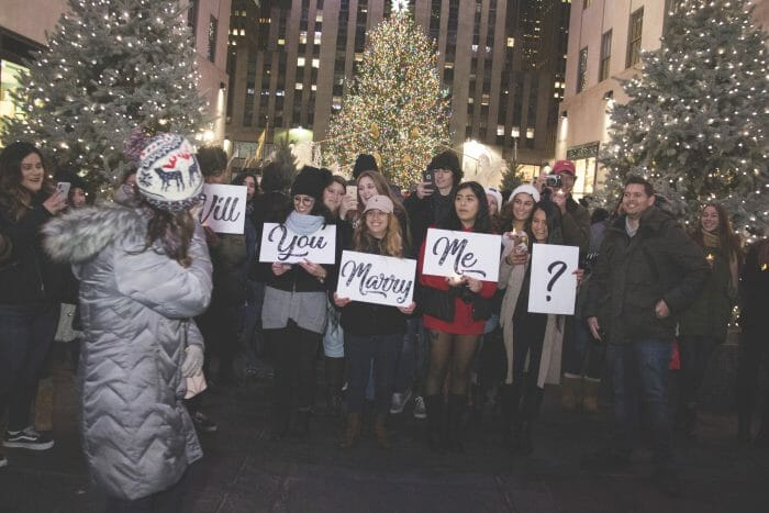 Milly and Nate's Engagement in Rockefeller Center