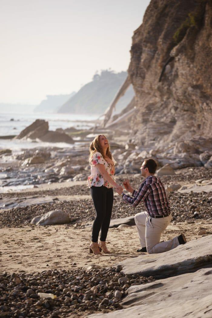 Christine's Proposal in Mesa Lane Steps, Santa Barbara, CA