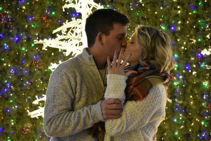 Shaun and Alyssa's Engagement in Enchanted Christmas Arlington Texas