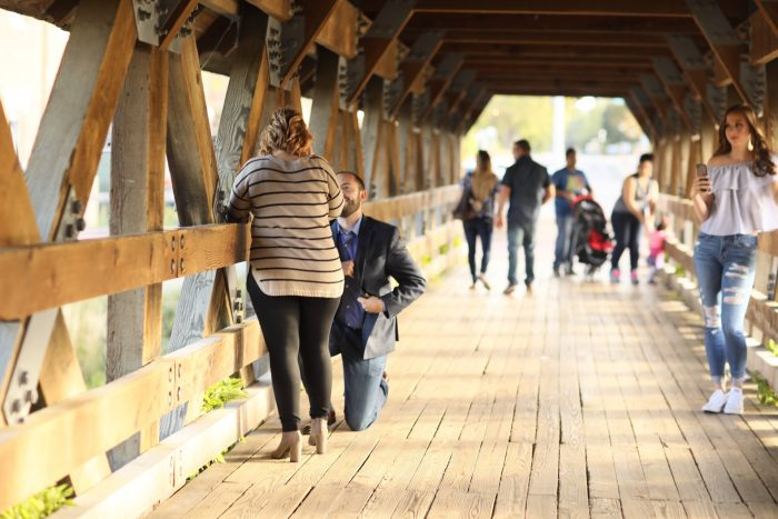 Engagement Proposal Ideas in Riverwalk in Naperville, il