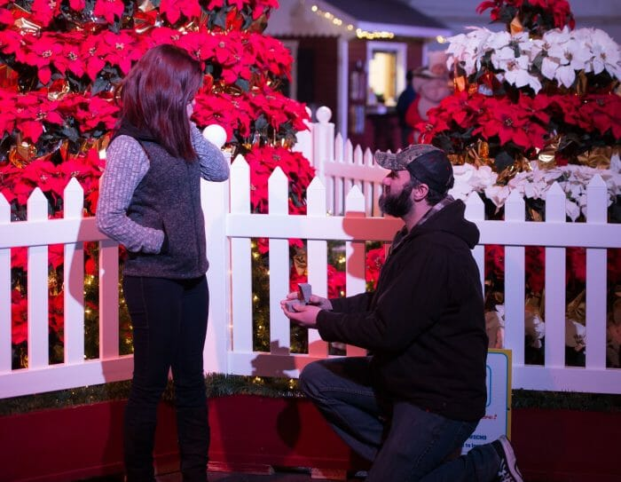 Where to Propose in Ocean City Maryland Winterfest of lights