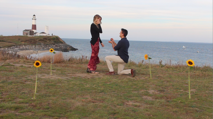 Breanna and Aleczander's Engagement in Montauk, NY