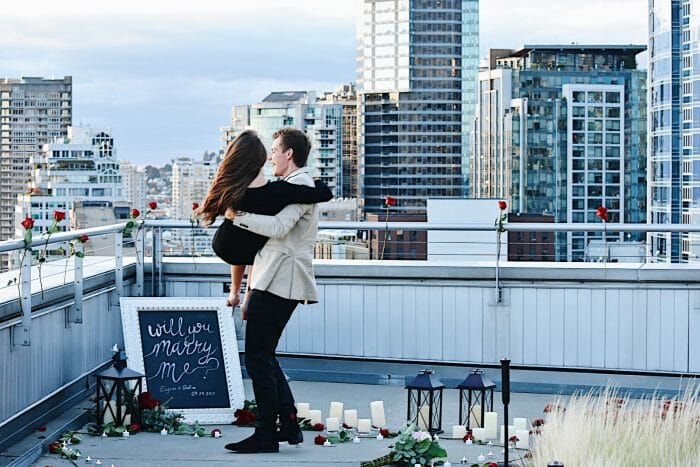 Marriage Proposal Ideas in Rooftop