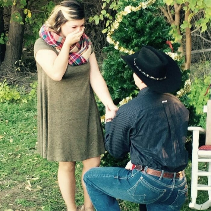 Kayla's Proposal in Comanche Trails Park