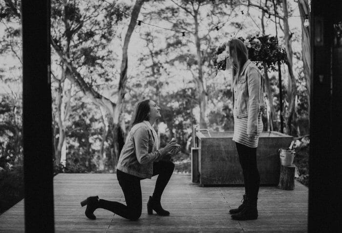 Ellen's Proposal in Rocky Hills East Coast Tasmania