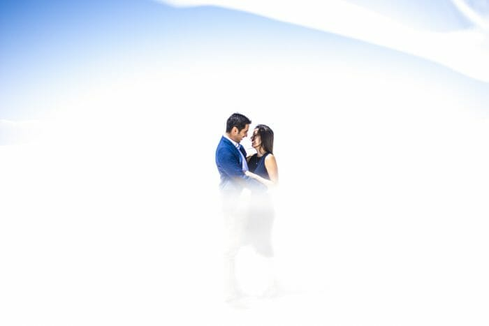 Michell and Sebastian's Engagement in Salt flats, Uyuni, Bolivia