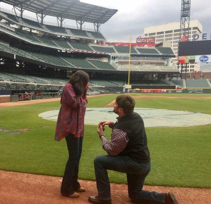 Engagement Proposal Ideas in Suntrust Park - Atlanta Braves Stadium