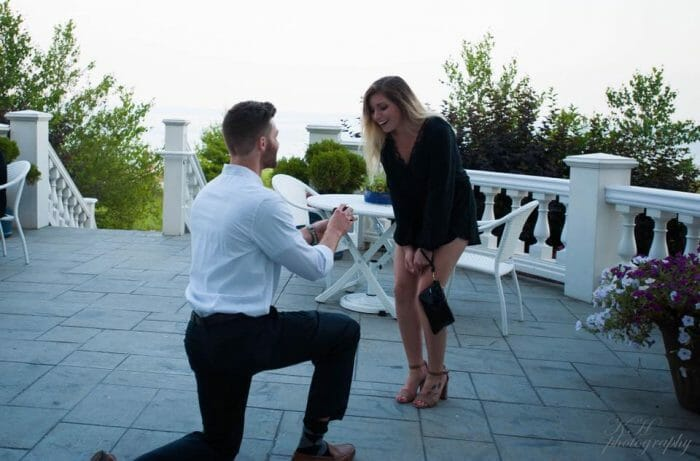 Engagement Proposal Ideas in Blue Harbor Resort in Sheboygan, WI