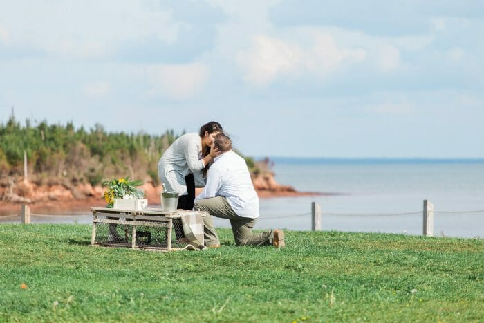 Wedding Proposal Ideas in Point Prim Lighthouse, Prince Edward Island Canada