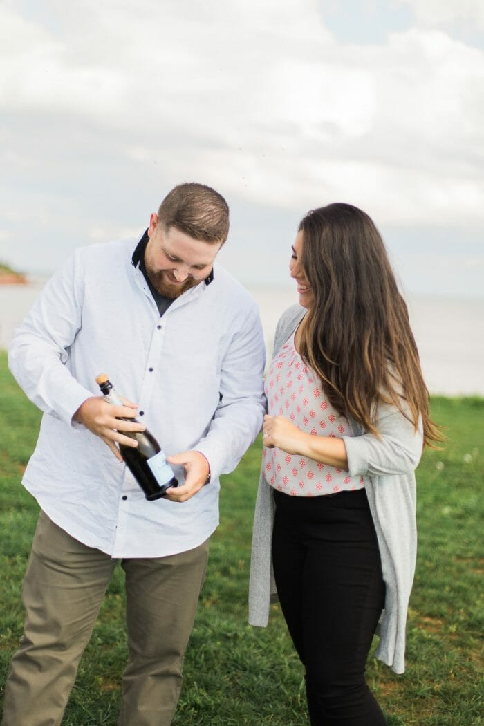 Lauren and James's Engagement in Point Prim Lighthouse, Prince Edward Island Canada