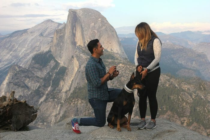 Where to Propose in Glacier Point, Yosemite, CA