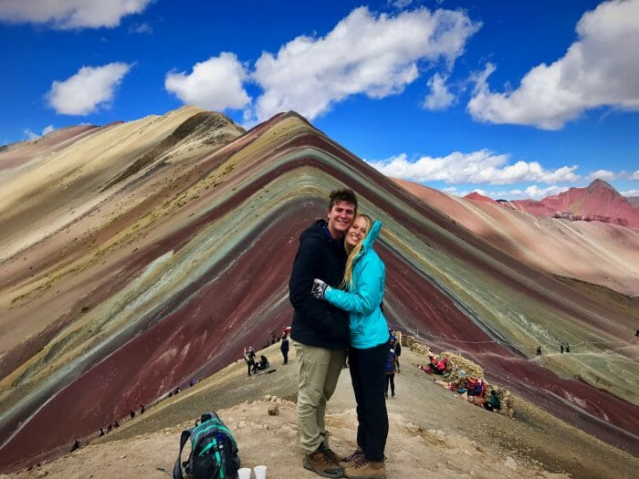 Vanessa's Proposal in Rainbow Mountain, Peru