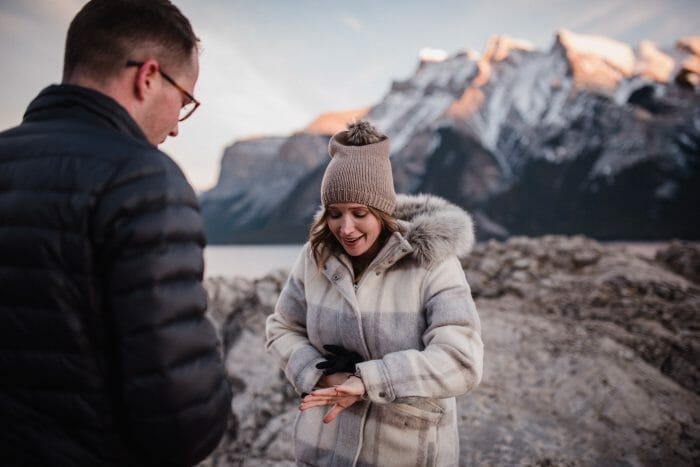 Sage and Brett's Engagement in Banff, Alberta, Canada