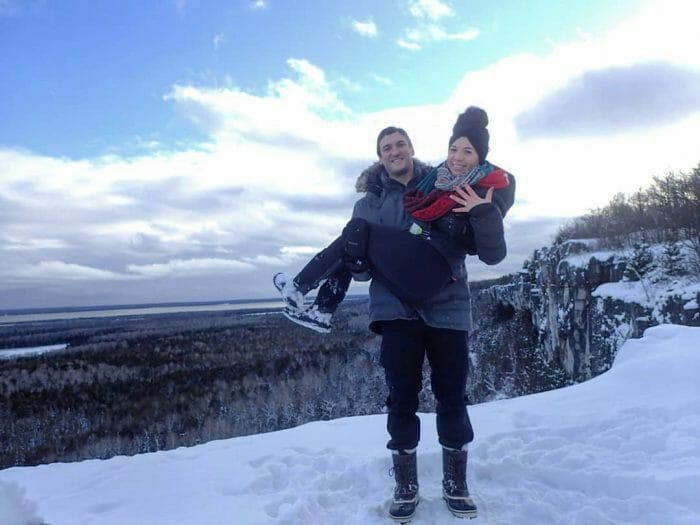 Marriage Proposal Ideas in Cup and saucer hiking trail on Manitoulin Island