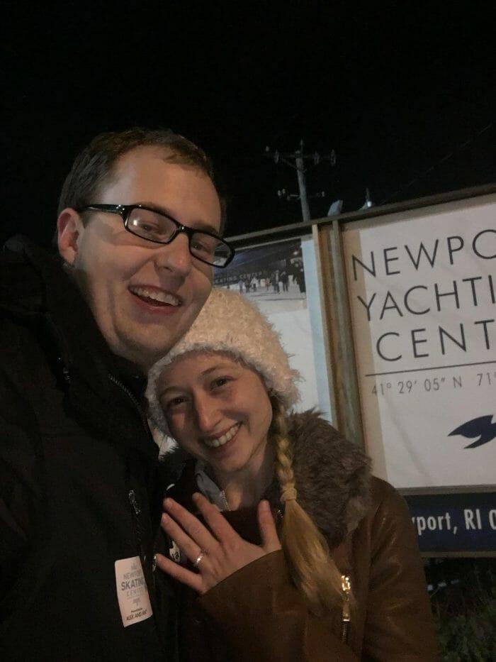 Rose's Proposal in Newport Skating Center