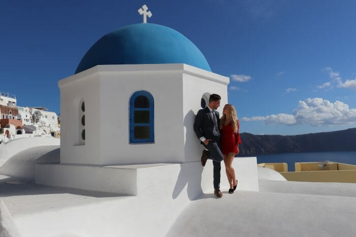 Rosalinda and Dave's Engagement in Santorini, Greece