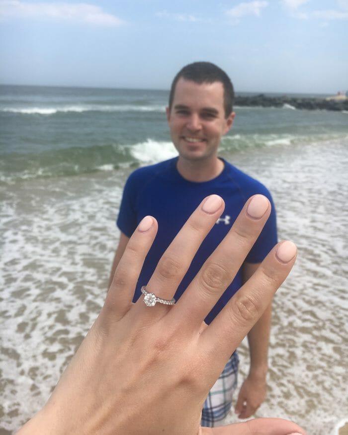Lara's Proposal in Seven Presidents Beach, Long Branch, NJ