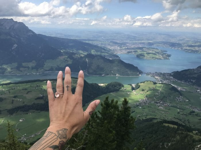 Marriage Proposal Ideas in On top of a Mountain (stanza horn) in Switzerland!