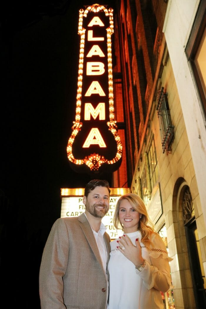 Kaitlin and Michael's Engagement in The Alabama Theater