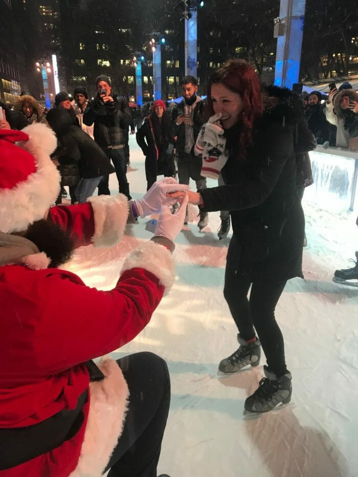 Marriage Proposal Ideas in Bryant Park Ice Rink