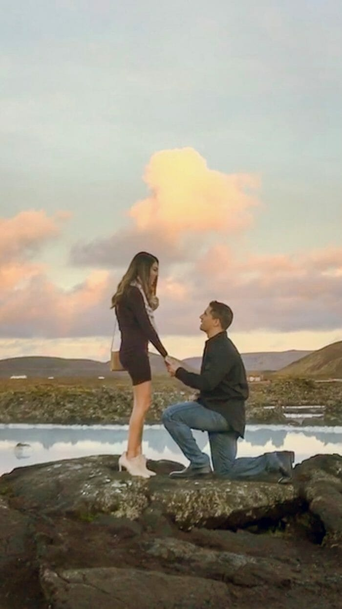 Ann's Proposal in Blue Lagoon, Iceland