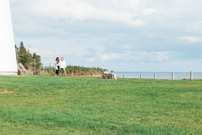 Engagement Proposal Ideas in Point Prim Lighthouse, Prince Edward Island Canada
