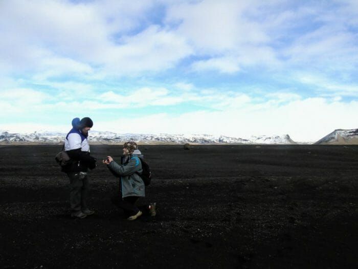 Justine's Proposal in Iceland