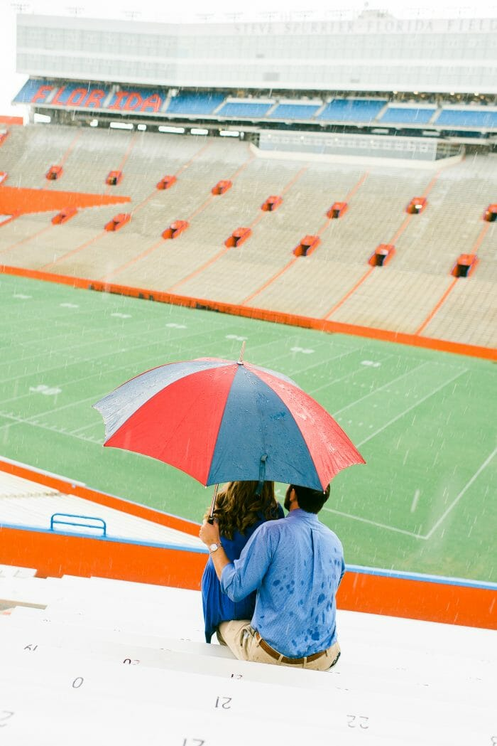 Gabrielle's Proposal in University of Florida Football Stadium. Gainesville, Florida