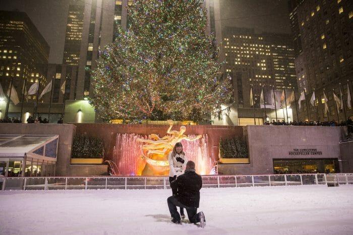 Marriage Proposal Ideas in Rockefeller Center, New York City