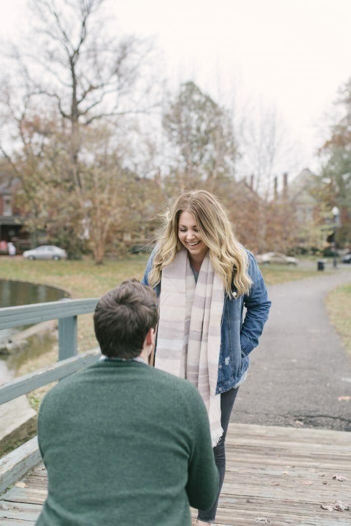 Emily Van's Proposal in Columbus Ohio