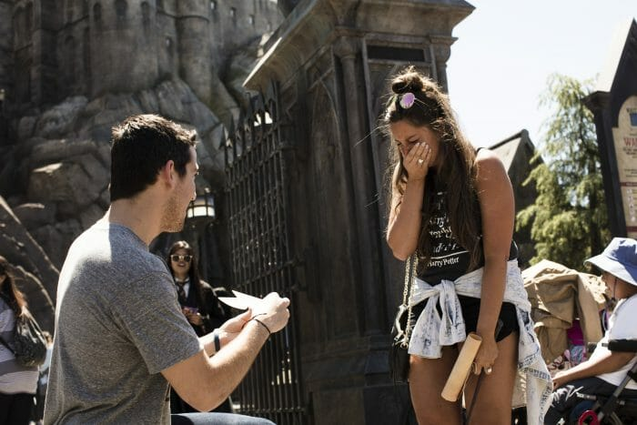 Engagement Proposal Ideas in Harry Potter World, Universal Studios Hollywood