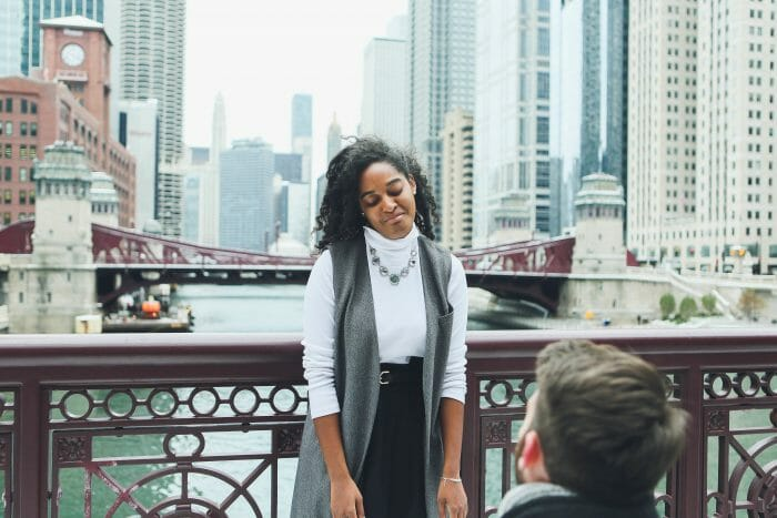 Sydney's Proposal in In our hometown of Chicago!