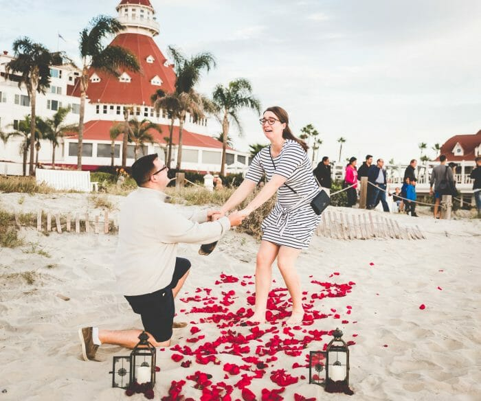 Where to Propose in Hotel del Coronado - San Diego, California