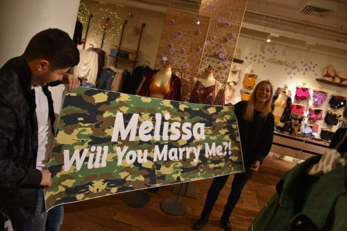 Melissa's Proposal in Free People Store