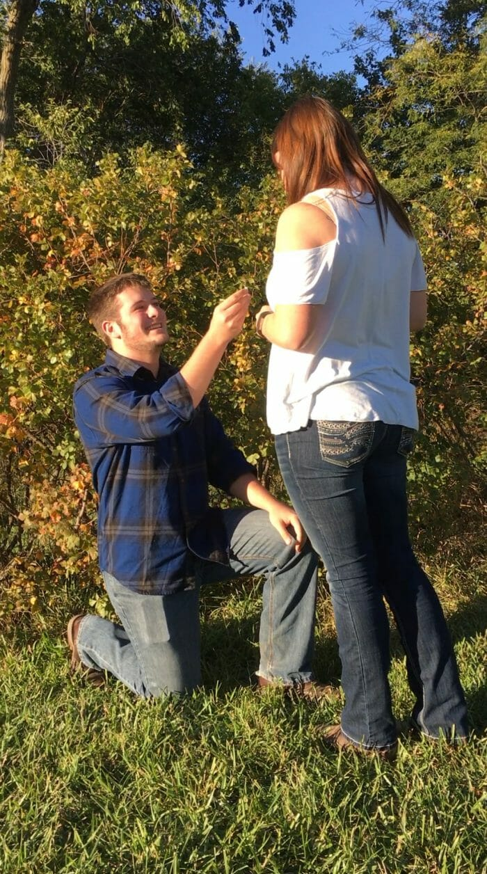 Where to Propose in Hiawatha, KS at his grandparents house