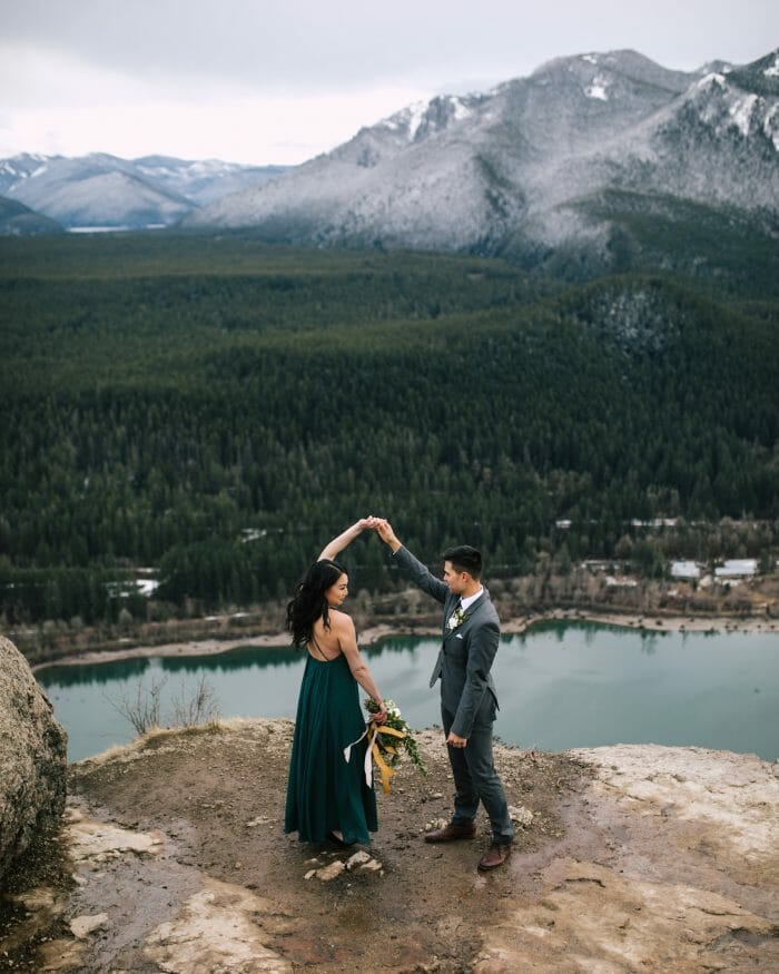 Tino and Aileen's Engagement in Rattlesnake Ledge, Washington State