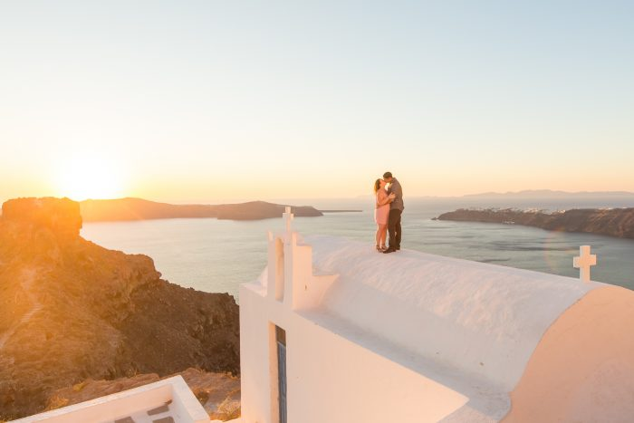 Kaycee and Lukus's Engagement in Santorini, Greece