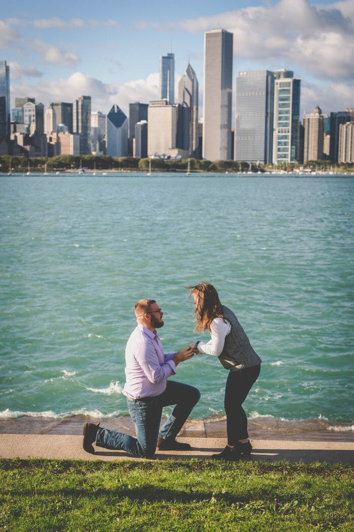 Marriage Proposal Ideas in Adler Planetarium, Chicago, IL
