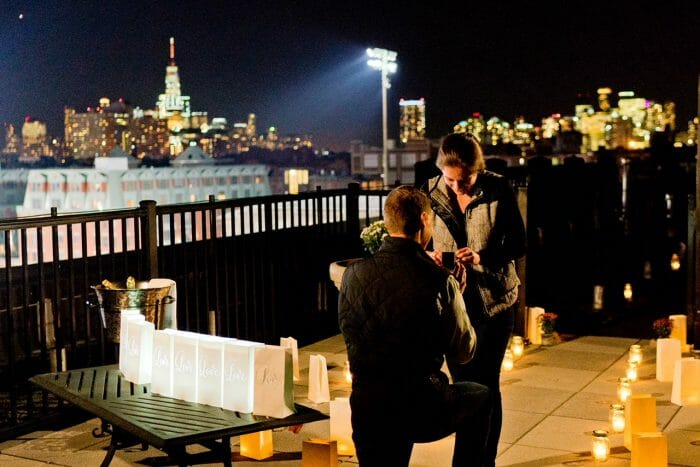 Madalyn's Proposal in On our Apartment Rooftop in Hoboken, NJ