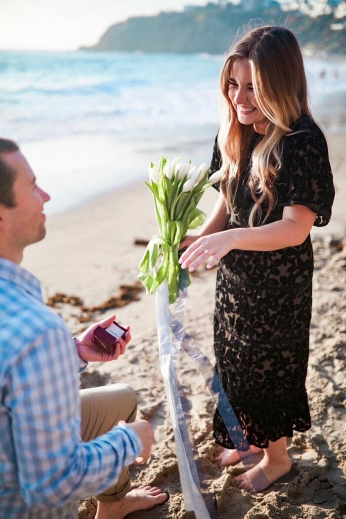 Engagement Proposal Ideas in Crescent Bay Beach in Laguna Beach, California
