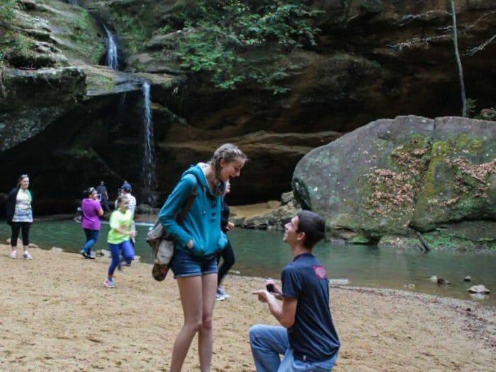 Wedding Proposal Ideas in Hocking Hills state park