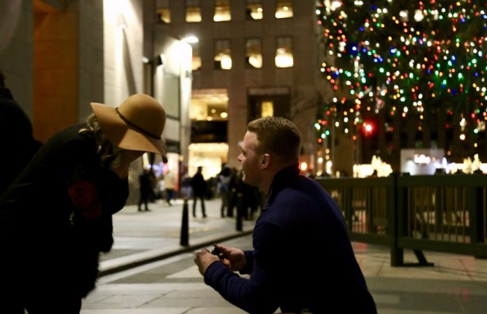 Eliza's Proposal in Rockefeller Plaza, Nee York City