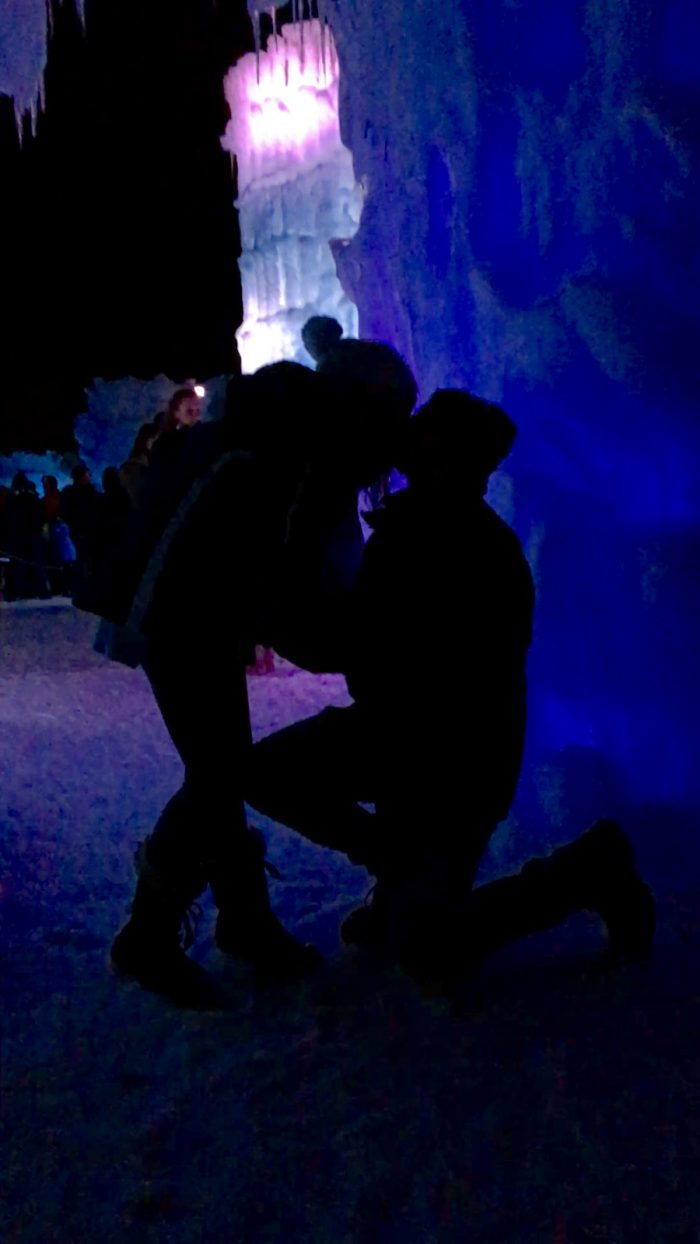 Wedding Proposal Ideas in Ice Castles in New Hampshire