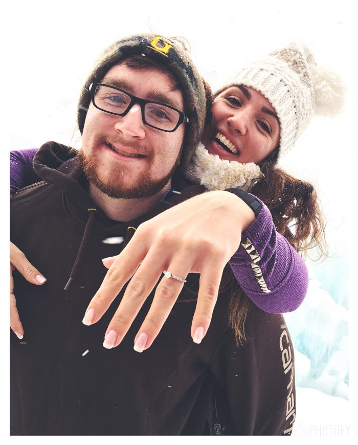Megan and Josh's Engagement in Ice Castles in New Hampshire